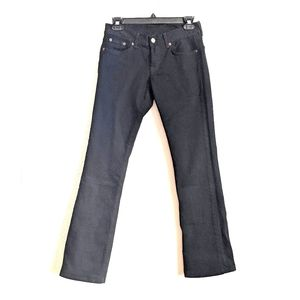 Lucky Brand Dungarees Black Slim Straight Jeans 26